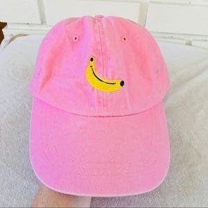 Pink Yellow banana hat baseball cap embroidered